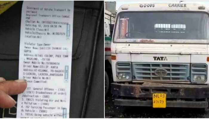 Truck owner fined Rs 6.53 lakh for violating traffic rules in Odisha