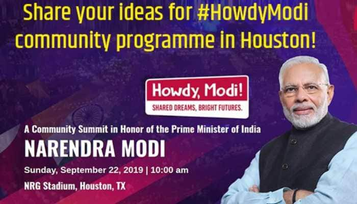 Howdy Modi – PM Modi invites your thoughts and ideas for Houston event