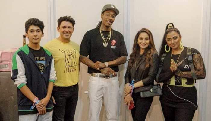 Groovy Madhuri Dixit poses with Wiz Khalifa
