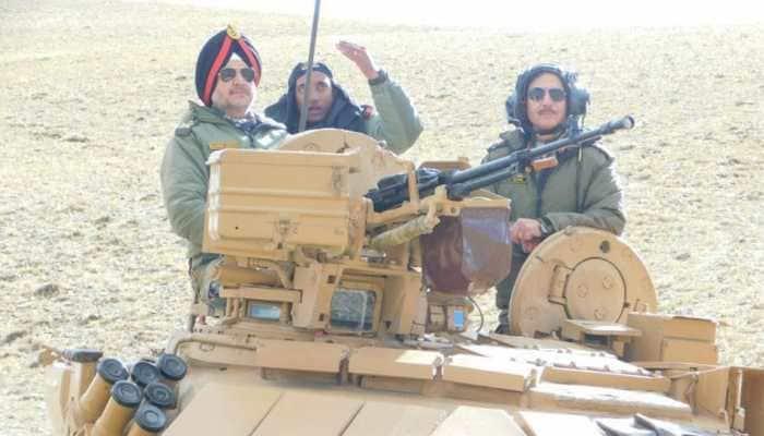 Indian Army conducts exercise in Eastern Ladakh, Northern Commander Lieutenant General Ranbir Singh praises troops