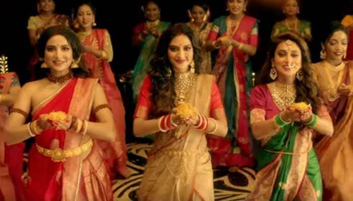 Dance video of Nusrat Jahan and Mimi Chakraborty on Durga Puja song goes viral - Watch