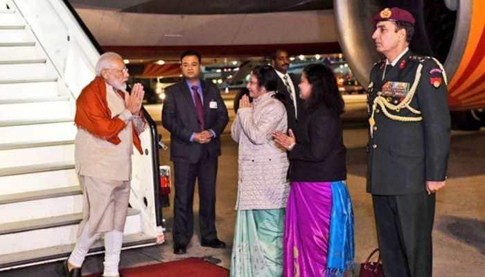 PM Narendra Modi leaves for Houston after brief halt in Frankfurt