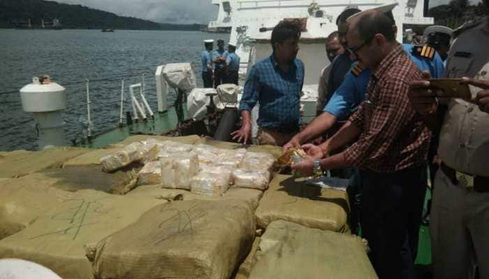 Indian Coast Guard seizes 1,155 kg of drugs from Myanmar ship, arrests six crew members