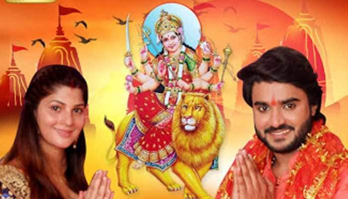 Sapna Gill and Pradeep Pandey Chintu team up for a devotional song—Pics
