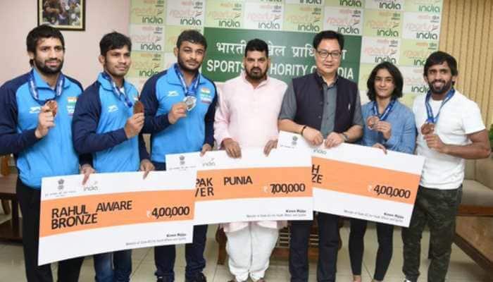 World Wrestling Championships: Kiren Rijiju announces cash reward for medal winners