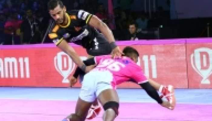 PKL 7: Siddharth Desai helps Telugu Titans thrash Jaipur Pink Panthers 51-31