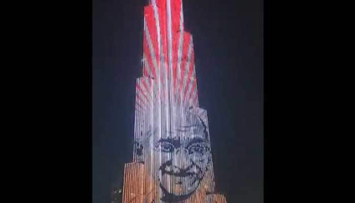 Burj Khalifa lit up with Mahatma Gandhi's image on his 150th birth anniversary - Watch