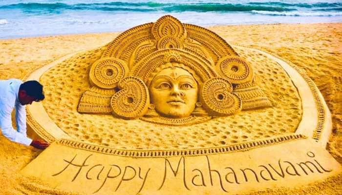 On Mahanavami, Sudarsan Pattnaik shares beautiful sand art Durga creation—See pic