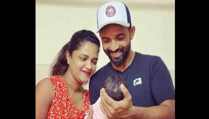 Ajinkya Rahane shares picture of his newborn daughter