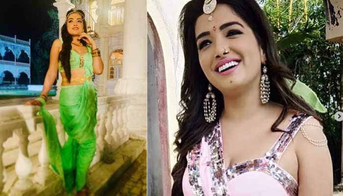 Aamrapali Dubey shares new look for upcoming film 'Raj Mahal'—Pics