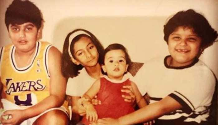 This childhood picture of Arjun Kapoor, Janhvi Kapoor, Anshula and Rhea Kapoor is breaking the internet