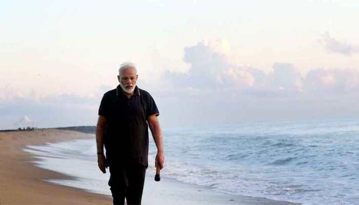 PM Modi pens down his 'world of feelings' after walk on Mahabalipuram beach
