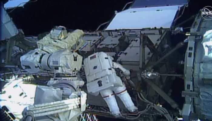 US astronauts embark on first all-female spacewalk