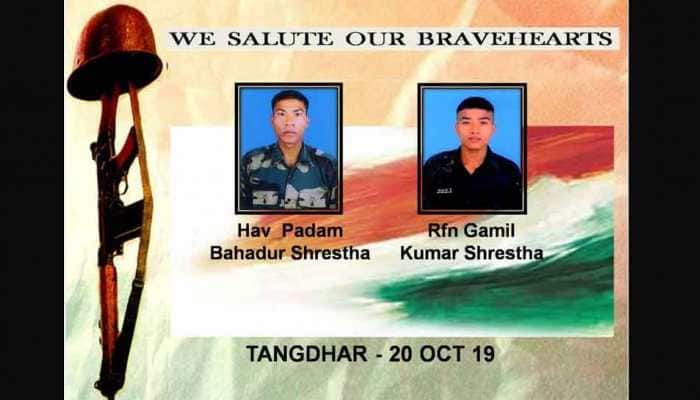 Indian Army salutes two bravehearts martyred in Pakistan shelling in J&K's Tangdhar