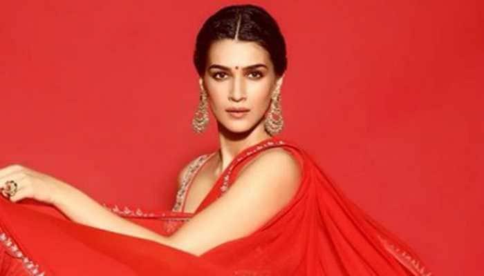 Kriti Sanon flaunts her fab figure in a red hot saree—Pics inside