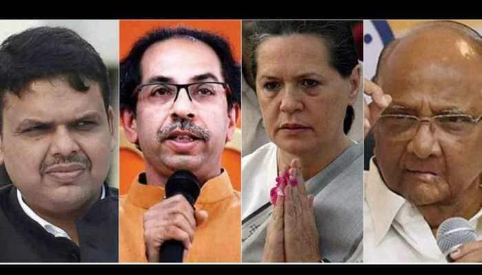 Maharashtra awaits Assembly election results; BJP-Shiv Sena upbeat, Congress-NCP hope for revival