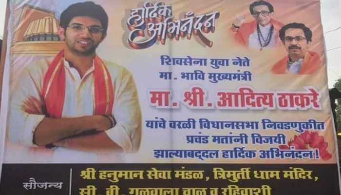 Posters depicting Aditya Thackeray as Maharashtra CM surface in Mumbai's Worli