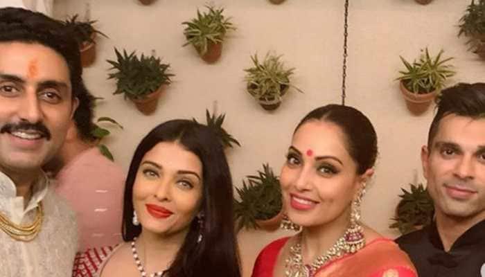 Aishwarya Rai-Bipasha Basu twin in red at Bachchans' Diwali party—Photos