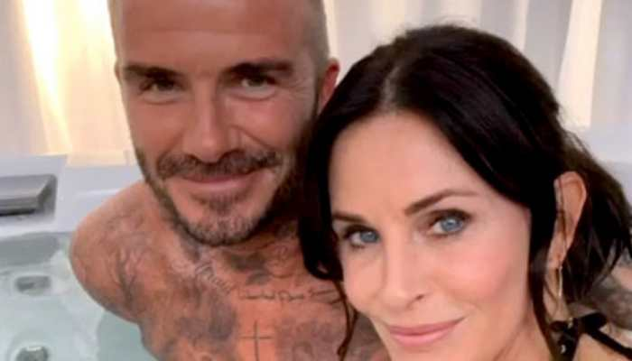 Courteney Cox's pics in hot tub with David Beckham confuses Jennifer Aniston