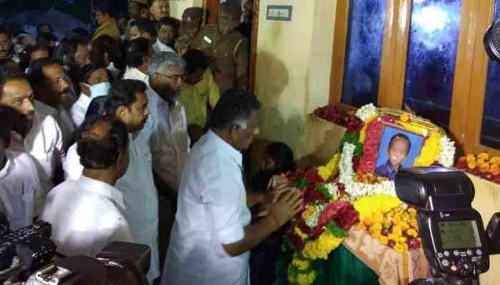 Tamil Nadu Chief Minister and Deputy Chief Minister pay tributes to Sujith Wilson at his residence