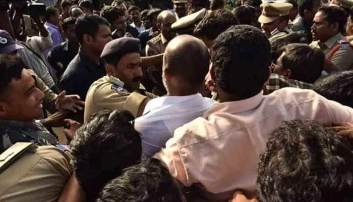 BJP slams Telangana police for 'manhandling' of Karimnagar MP Bandi Sanjay