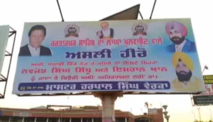 Ahead of Kartarpur Corridor inauguration, posters hailing Navjot Singh Sidhu and Pakistan PM Imran Khan surface in Amritsar