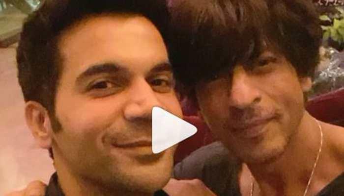 When Rajkummar Rao got a peck on his cheek from Shah Rukh Khan- Watch
