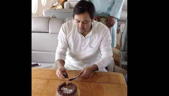 Tejashwi Yadav celebrates birthday on chartered plane, gets trolled on Twitter