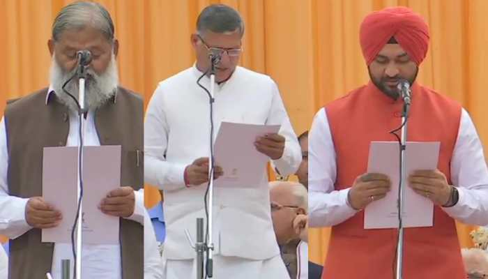 Manohar Lal Khattar's Haryana cabinet expanded, governor administers oath of office to 10 ministers