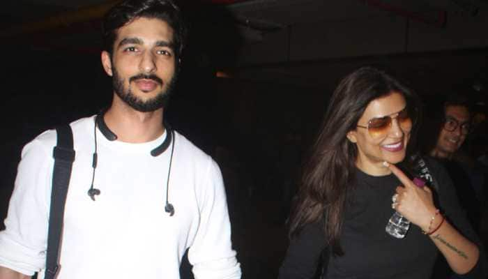 Sushmita Sen's birthday was lit with surprise party, balloons, tent, cake and 'all hearts' by Rohman Shawl – Watch