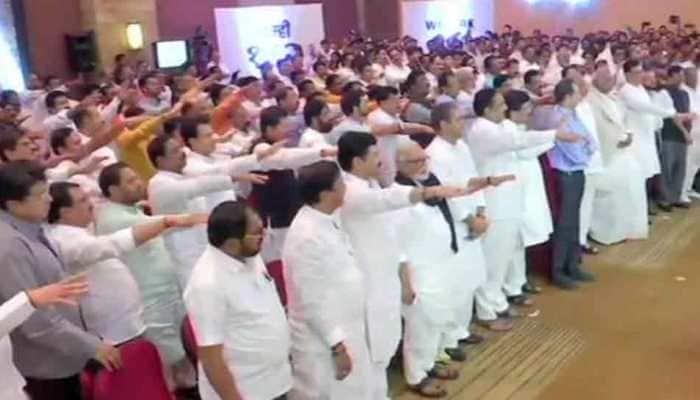 Maharashtra drama continues, 162 Shiv Sena-NCP-Congress MLAs come together; Uddhav says fight is for 'Satyameva Jayate'