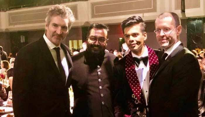 Karan Johar meets David Benioff, DB Weiss at 2019 International Emmy Awards