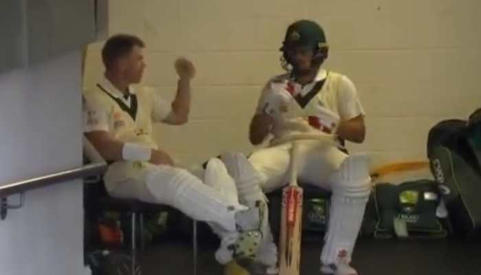 David Warner, Joe Burns play rock-paper-scissor ahead of 2nd Pakistan Test--Watch