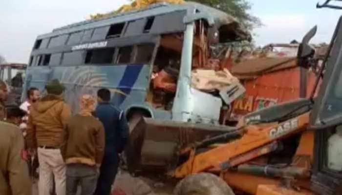 10 dead, 30 injured as bus, truck collide in Madhya Pradesh's Rewa