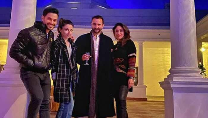 Saif Ali Khan-Kareena Kapoor spend a perfect winter evening at Pataudi Palace
