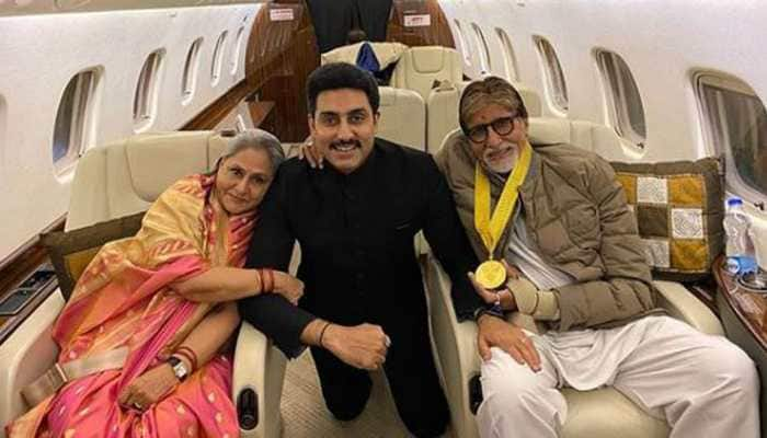 This picture of Abhishek Bachchan with his parents Amitabh-Jaya Bachchan is unmissable