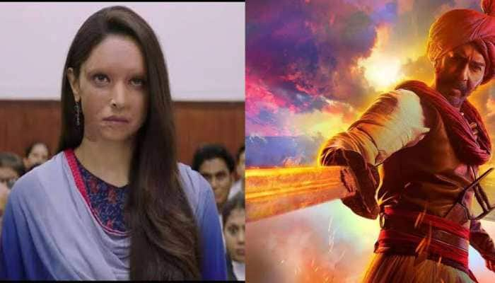 Deepika Padukone's 'Chhapaak' vs Ajay Devgn's 'Tanhaji' Box Office report: Day 2 collections