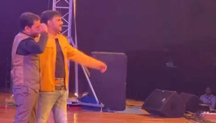 Pawan Singh-Nirahua burn the dance floor at an event in Patna - Watch