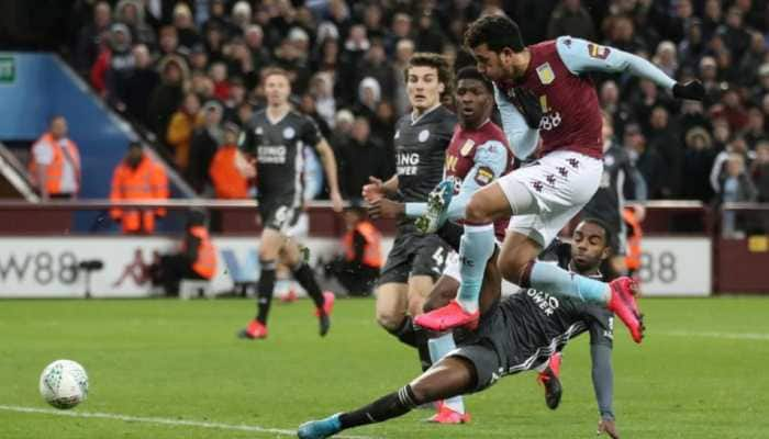 Villa defeat Leicester, enter League Cup final after Trezeguet scores in stoppage time
