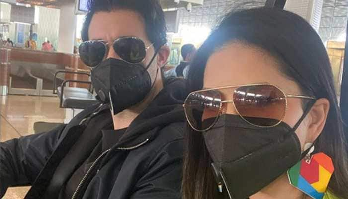 Coronavirus scare: Sunny Leone and hubby Daniel Weber wear masks, urge everyone to stay safe - Pic proof
