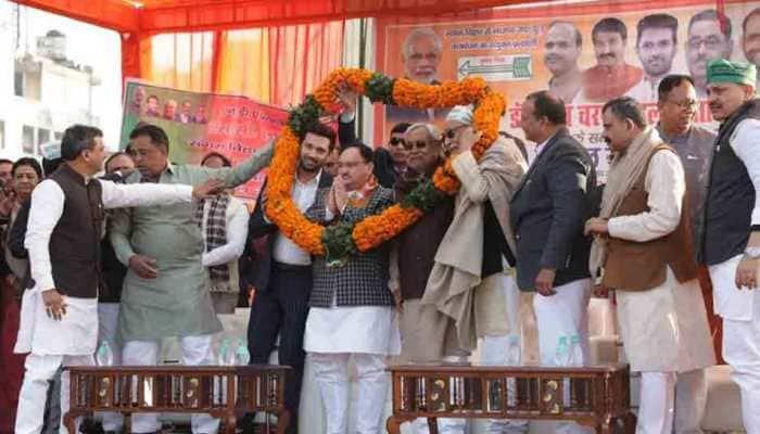 Delhi assembly election: Bihar CM Nitish Kumar campaigns for NDA candidate in Sangam Vihar
