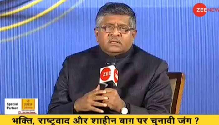 Centre ready to talk with Shaheen Bagh protesters but in structured manner: Union Law Minister Ravi Shankar Prasad at India Ka DNA event
