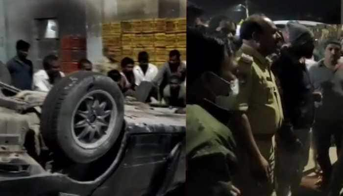 1 dead, 5 injured after speeding car falls off flyover in Hyderabad
