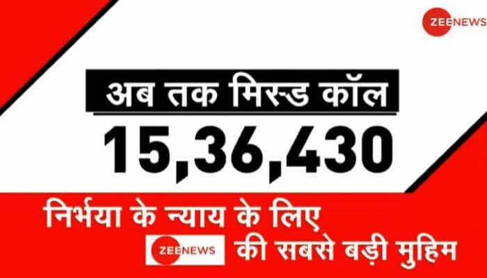 Over 15 lakh pledge support to Zee News' campaign seeking speedy justice for Nirbhaya