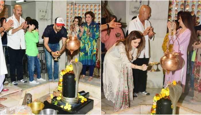 Maha Shivratri 2020: Hrithik Roshan, Sussanne Khan and family perform puja at Shiva temple in Mumbai