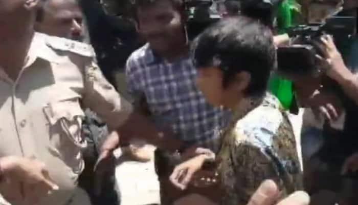 Bengaluru girl Arudra booked for displaying 'Free Kashmir' placard
