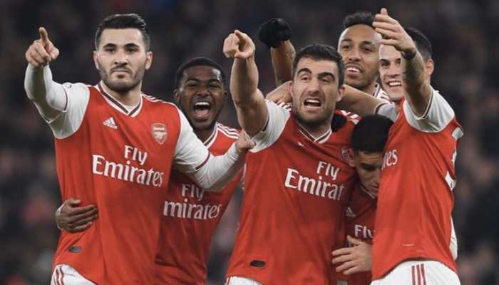 Pierre-Emerick Aubameyang's brace guides Arsenal to 3-2 EPL win over Everton