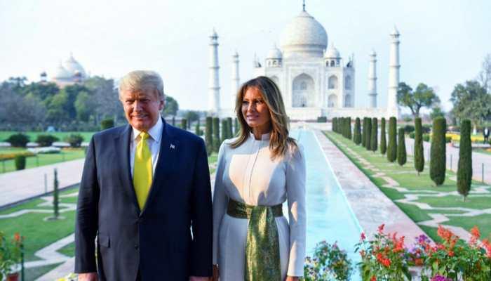 US President Donald Trump's 'unique' signature at visitors' book in Sabarmati Ashram and Taj Mahal make headlines