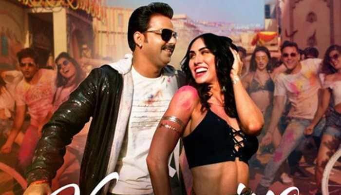 Pawan Singh-Lauren's first-ever Holi song 'Kamariya Hila Rahi Hai' becomes no 1 trending track - Watch if you missed it!