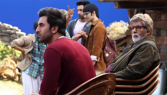 Bollywood News: Amitabh Bachchan shares pics with his 'favourite' Ranbir Kapoor from 'Brahmastra' sets